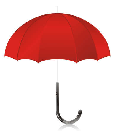 Illustration - red open umbrella
