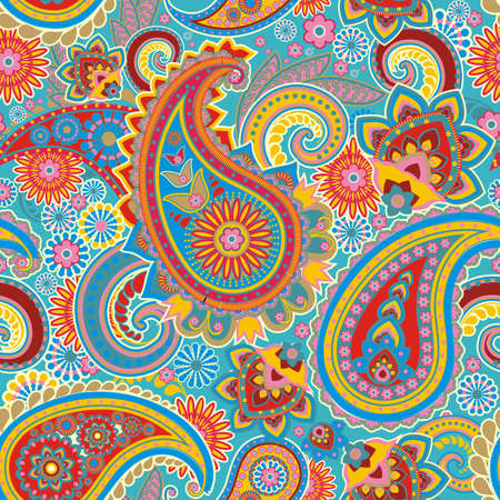 Seamless pattern based on traditional Asian elements Paisley Stok Fotoğraf - 16296802
