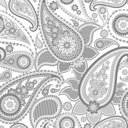 linear: Seamless pattern based on traditional Asian elements Paisley
