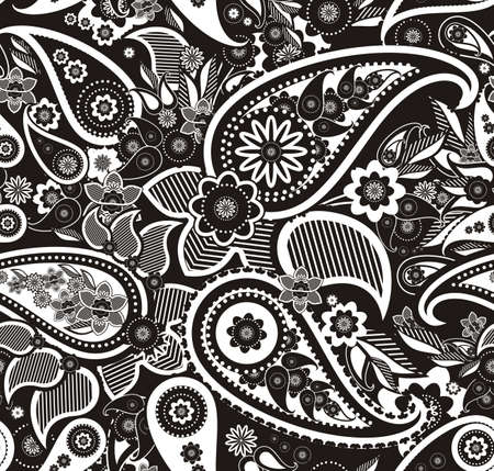 india culture: Seamless pattern based on traditional Asian elements Paisley