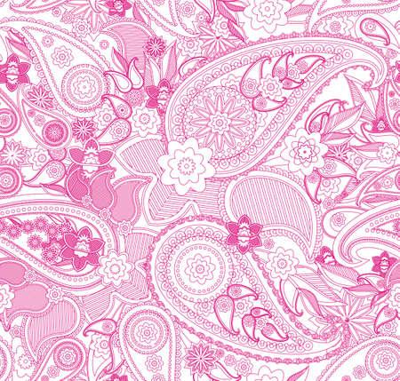 Nahtlose Muster auf traditionelle asiatische Elemente Paisley Basis Standard-Bild - 19147700