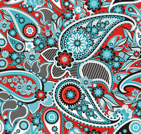 Seamless pattern based on traditional Asian elements Paisley Stock fotó - 20897020