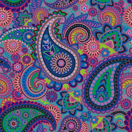 Naadloze patroon gebaseerd op de traditionele Aziatische elementen Paisley