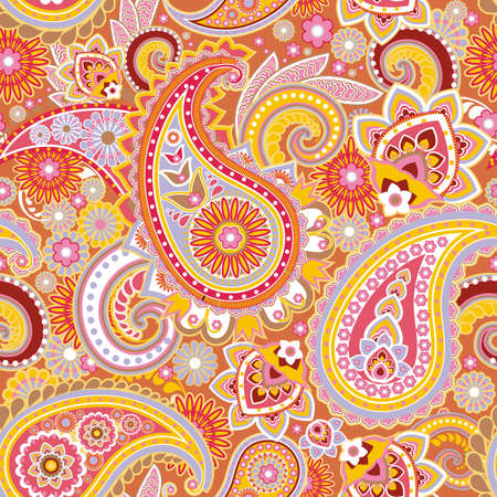 Seamless pattern based on traditional Asian elements Paisley Фото со стока - 20897024
