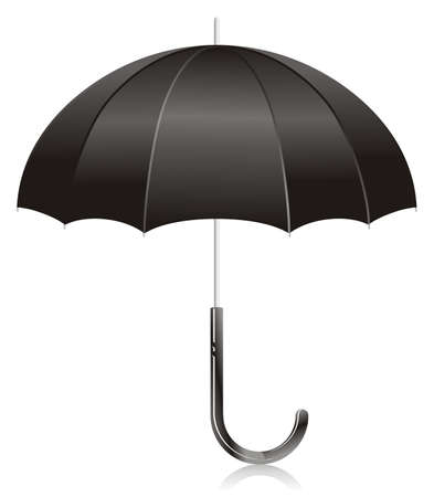umbel: Illustration - black open umbrella