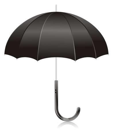 soumis: Illustration - parapluie ouvert noir