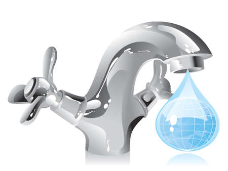 concept on the conservation of natural resources - water Vector