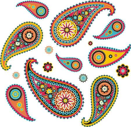 iranian: pattern based on traditional Asian elements Paisley