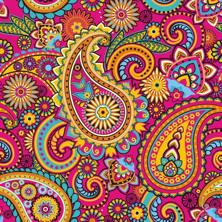 Seamless pattern basada en elementos tradicionales asi?ticos Paisley Foto de archivo - 20897245