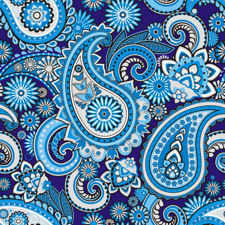 Seamless pattern based on traditional Asian elements Paisley Stock fotó - 20897223
