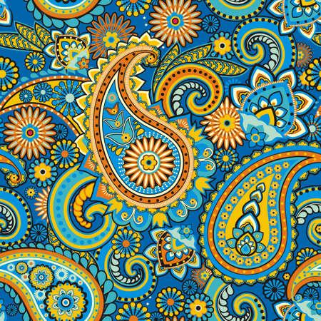 iranian: Seamless pattern based on traditional Asian elements Paisley