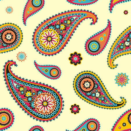 Seamless pattern based on traditional Asian elements Paisley Stock fotó - 21033873
