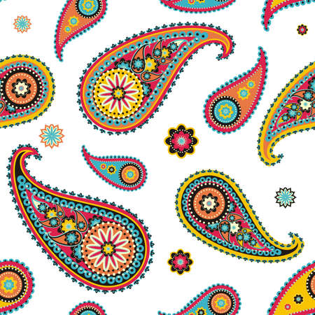 welsh: Seamless pattern based on traditional Asian elements Paisley
