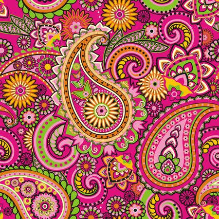 Seamless pattern basada en elementos tradicionales asi?ticos Paisley Foto de archivo - 21451965