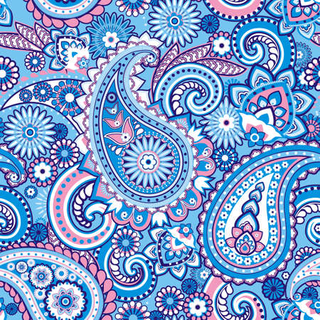 Seamless pattern based on traditional Asian elements Paisley Stok Fotoğraf - 21451968