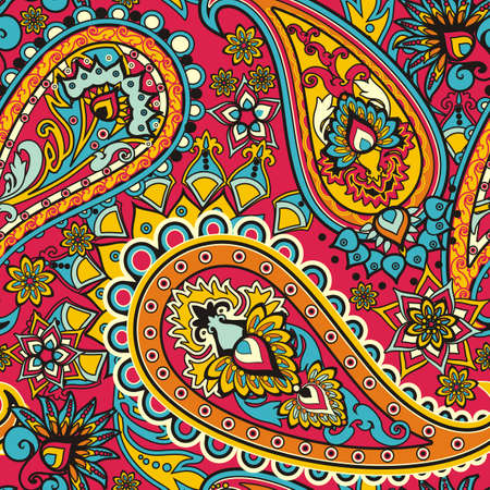 the origin: Seamless pattern based on traditional Asian elements Paisley