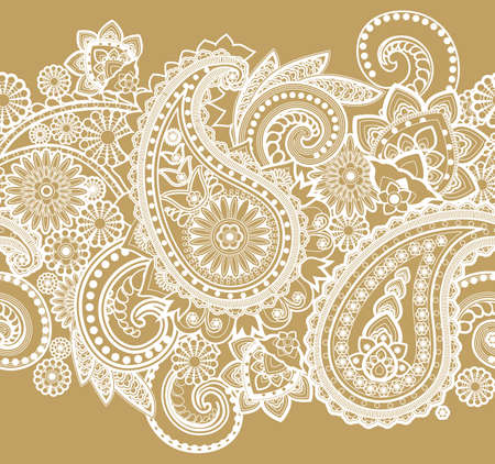 Seamless pattern based on traditional Asian elements Paisley Imagens - 27440050