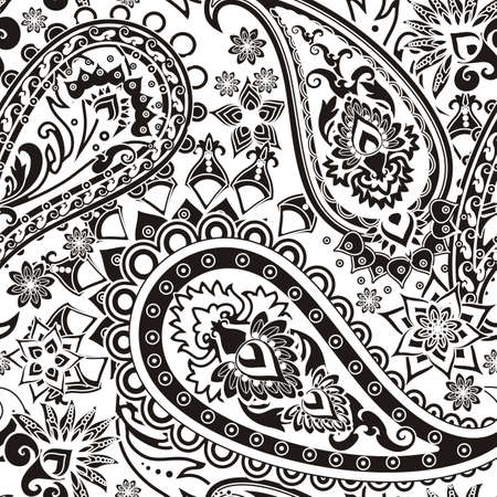 paisley design: Seamless pattern based on traditional Asian elements Paisley