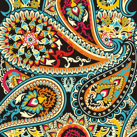 Seamless pattern based on traditional Asian elements Paisley Stock fotó - 28247564