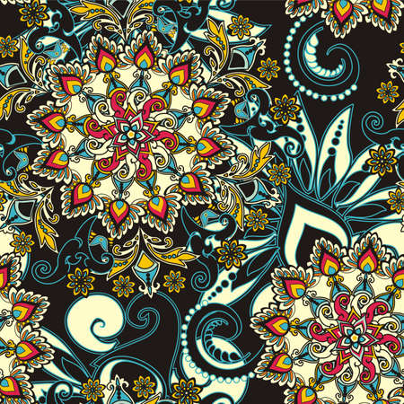 iranian: floral pattern in vintage style