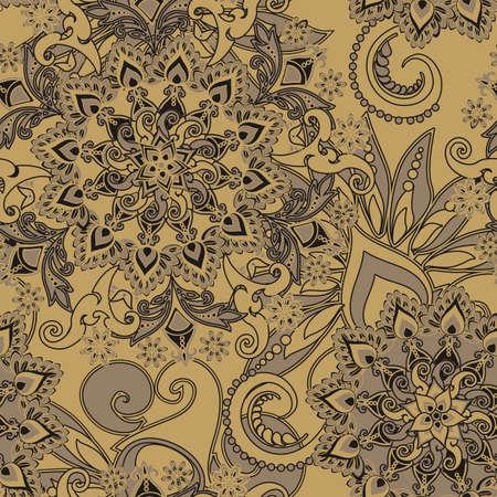 hinduismo: estampado de flores de estilo vintage
