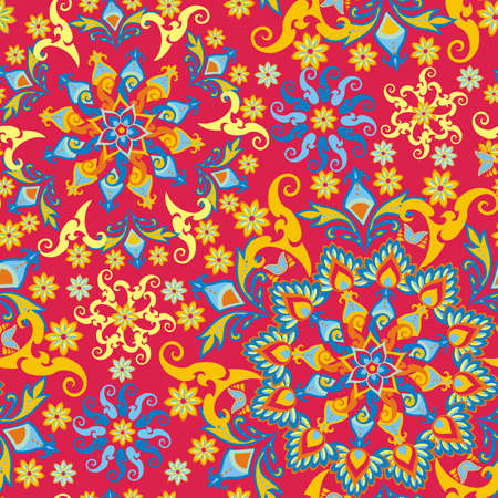 india culture: floral pattern in vintage style