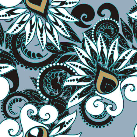 iranian: seamless floral pattern in vintage style