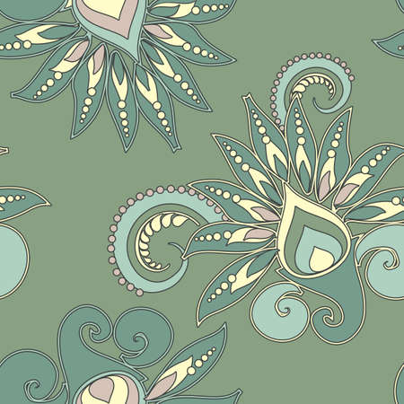 seamless floral pattern in vintage style Vector