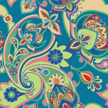 Nahtlose Muster auf traditionellen asiatischen Elementen Paisley Basis Standard-Bild - 37129266