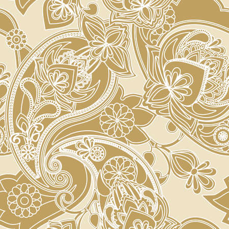 pear shaped: Seamless pattern based on traditional Asian elements Paisley