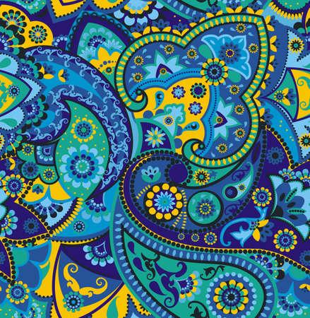 Naadloos patroon gebaseerd op traditionele Aziatische elementen Paisley Stockfoto - 38387296