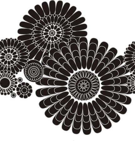 seamless pattern of decorative stylized flowers