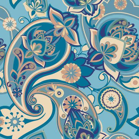 disegni cachemire: Seamless pattern sulla base di elementi tradizionali asiatici Paisley