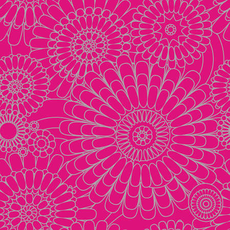 seamless pattern of decorative stylized flowers