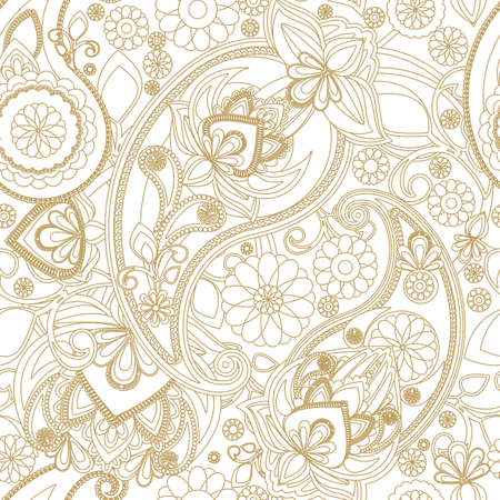 iranian: Seamless pattern based on traditional Asian elements Paisley