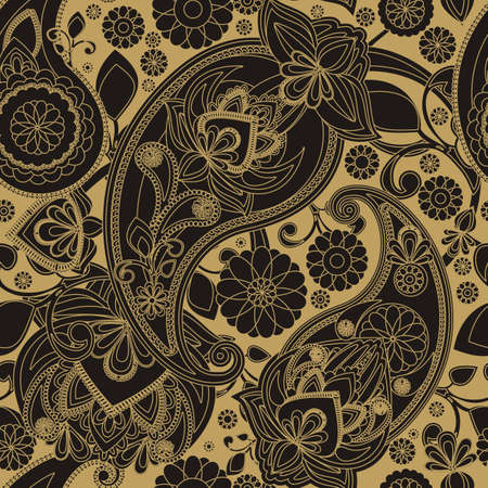 teardrop: Seamless pattern based on traditional Asian elements Paisley