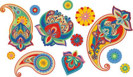 os: set os traditional Asian elements Paisley