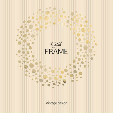 textural: The picturesque frame on textural background in gold tones. Template for design postcards, posters and booklets.