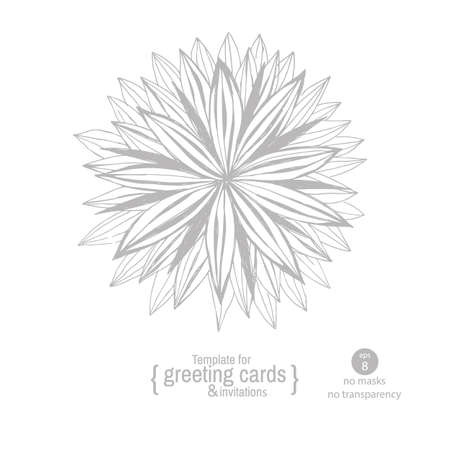 gala: Template greeting card or invitation for holidays, anniversaries, parties, gala events. Hand drawing flowers.