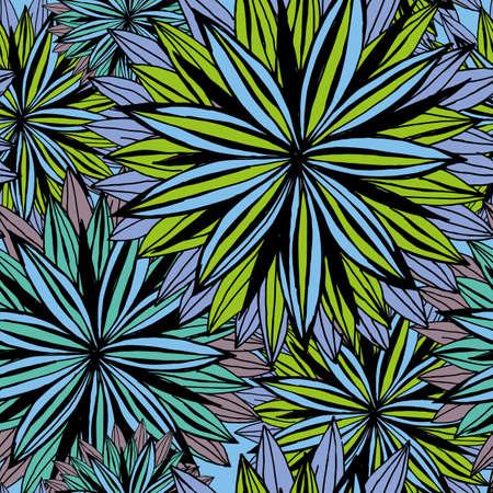 disegno a mano: Seamless pattern di fiori di grandi dimensioni. Disegno a mano.