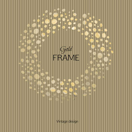 textural: The picturesque golden frame on a striped textural background. Template for design postcards, posters and booklets.