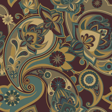 Seamless pattern based on traditional Asian elements Paisley Banco de Imagens - 41547560
