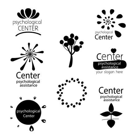 rounded: Version of the logo for the center psychological counseling, family therapy,  psychological assistance offices.