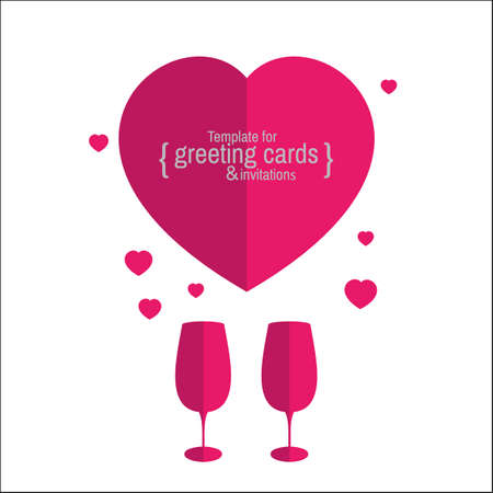 gala: Template greeting card or invitation for holidays, anniversaries, parties, gala events. Love.