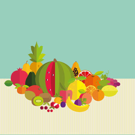 pome: Composition of fresh fruit: citrus, exotic, stone and pome.