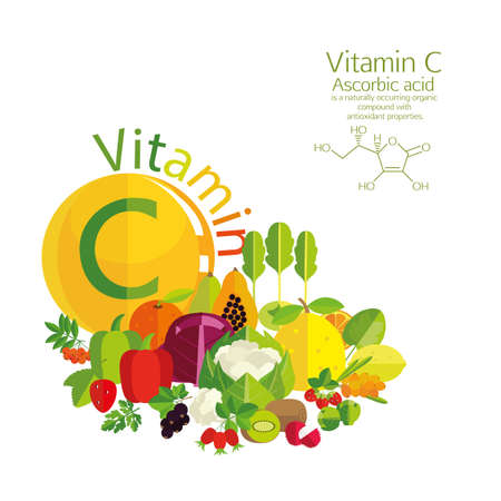 ascorbic: The composition of vegetables, fruits and berries with the highest vitamin C content. Brief description of the molecular structure and ascorbic acid. Basics of healthy nutrition.