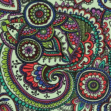 아시아 전통 요소 페이즐리 무늬에 따라 원활한 패턴입니다.