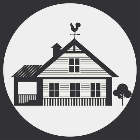lowrise: Garden house with weather vane on the roof. Country Living.