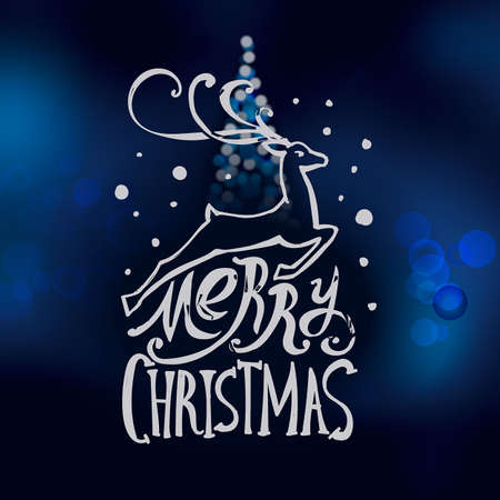 Merry Christmas In Cursive.Lettering