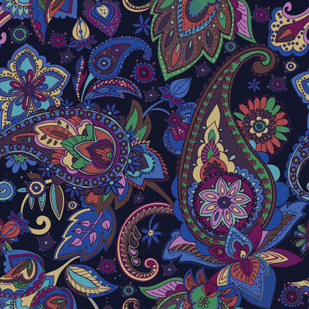 Paisley pattern in vintage style.